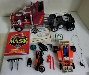 LOT OF MASK VEHICLES ,WEAPONS ,PARTS , by KENNER,RHINO,FIRELY,FIRECRACKER,1985-7