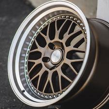 """17"""" ESR SR01 Bronze Wheels For Dodge Neon SRT4 17x8.5 5x100 +30 (Rims Set of 4)"""