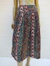 Vintage Skirt Full Circle Geometric Midi Maxi Dress Skirt Festival Boho