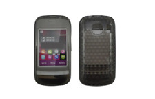 Silikon Tasche Rumpf Gel Schwarz Diamant ~ Nokia C2-02 / C2-03 / C2-06