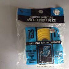 "Vtg Wellington Outdoor Furniture Webbing 73 Ft X 2 ""1/4""~Sunshine Yellow~NEW"