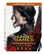 HUNGER GAMES DVD COLLECTION - COMPLETE 4-FILM COLLECTION [8 DISCS] - NEW