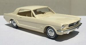 Mint Condition NOS White 1965 Ford Mustang Hardtop AMT Promo Car. 65 Promotional
