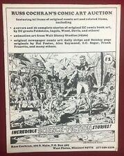 RUSS COCHRAN'S COMIC ART AUCTION CATALOG #1 (1980) comic book art fanzine VG+