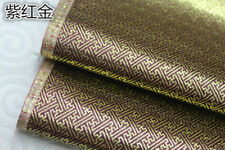 Diy Squared spirals Vintage Damask Satin Faux Gold Silk Brocade Jacquard Fabric