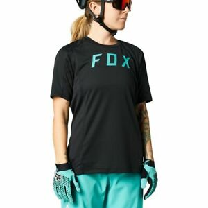 Fox Racing 2021 Women's Defend Short Sleeve s/s Jersey Black