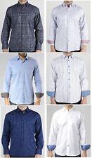 NWT Men's Visconti Black Button Front Long Sleeve Shirt Reg $145 Sz Small - XXL