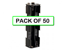 (PACK OF 50) VELLEMAN BH382B BATTERY HOLDER FOR 8 x AA CELL (SNAP TERMINALS)