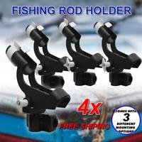 4x Fishing Rod Holder Boat Mount Rack Kayak Adjustable Side Tackle Marine NEW