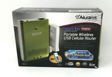 Aluratek ZALiP 3G Portable Wireless Hotspot USB Cellular Router Green with Case