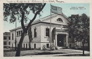 Public Library - Edgerton, Wisconsin - posted Litho