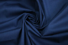 Navy Blue Solid Natural Cotton Voile Fabric Cloth Upholstery Crafts Material Sew