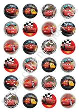 24 Disney Cars Cupcake Fairy Cake Toppers Edible Rice Paper decorations Birthday