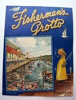 1961   No. 9  Fishermen's Grotto San Francisco Menu Great Cover!