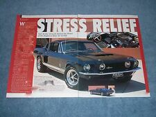 """1967 Shelby GT500 Mustang Article """"Stress Relief"""" G.T. 500"""