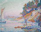 Paul Signac Seaside Landscape Yachts Print CANVAS Home Decoration Art Small 8x10