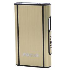 Pocket Smoke Cigarette Case Automatic Ejection Holder Metal Box 1pcs Gold
