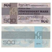 Pick R373a DDR 500 Mark Forumscheck 1979  Unc.234951vvv.