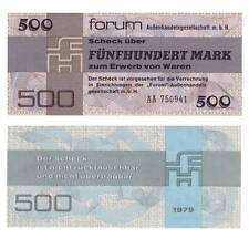 DDR 500 Mark Forumscheck 1979 Pick R373a Unc.234951##