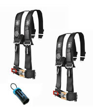 "PRO ARMOR 4 Point Harness 3"" Pads Seat Belt PAIR W BYPASS BLACK RZR XP1000 1KXP"