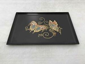 Vintage Lacquer Couroc Of Monterey Serving Platter Tray