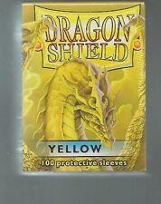 (100) Dragon Shield Yellow Protective Sleeves Sealed Magic MTG FREE SHIPPING