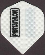 White Dimplex PENTATHLON Dart Flights: 3 per set
