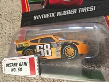 """Disney Cars Diecast Exclusive """"OCTANE GAIN""""  NO. 58 Synthetic Rubber Tires 2009"""