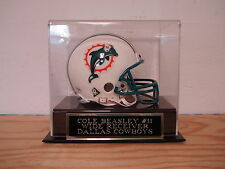 Football Mini Helmet Display Case With A Cole Beasley Dallas Cowboys Nameplate