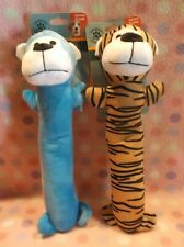 Set Of Two Dog Puppy Plush Squeaky Animals Toy Set New!