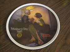 Vintage Edwin M. Knowles Norman Rockwell 1981 Mother'S Day Plate