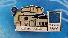 COUNTDOWN 9 MONTHS TO GO (ENGLISH) BATHS THESSALONIKI - ATHENS 2004 OLYMPIC PIN