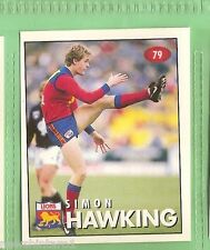 1996 AFL SELECT  STICKER  #79  SIMON HAWKING,  FITZROY LIONS