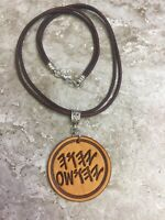 PALEO HEBREW 2inch FATHER & SON Names YHWH Yahusha Brown Bold Leather Necklace