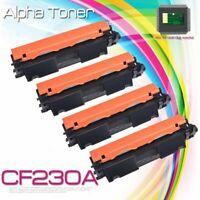 4PK CF230A 30A Toner Cartridge + Chip For HP LaserJet Pro M203dw M227sdn M227fdw