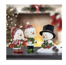 Holiday Snowmen, Set of 3