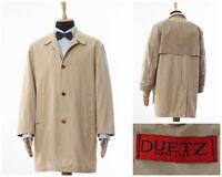 Mens DUETZ Coat Jacket Cotton Beige Size M