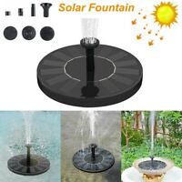 Solar Powered Fountain Water Pump Floating Garden Patio Pond Pool Fish Bird Bath