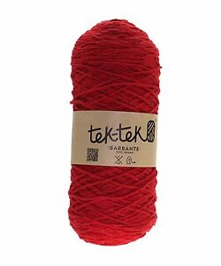 Crafting Cotton 6ply RED New Cotton Knitting Crochet Weaving 220m washable