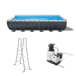 "Intex 26367EH 24' x 12' x 52"" Rectangular Ultra XTR Frame Swimming Pool w/ Pump"