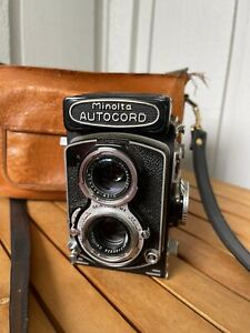 Vintage Minolta Autocord TLR MX Medium Format Camera - Chiyoko 75mm F3.5 Lens