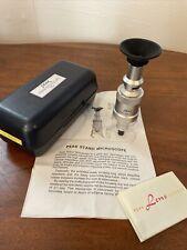 Peak Stand Microscope 75x Boxed Instructions Etc