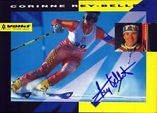 Corinne Rey-Bellet Switzerland Ski Winter Sports Autograph Card Signed(Flo-8086