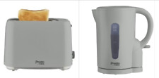 Tower Presto Grey Jug Kettle And 2 Slice Toaster Set