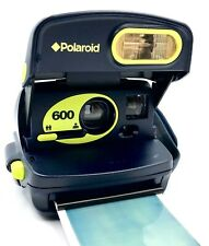 Polaroid 600 Fluorescent Green, Using 600 Film ***RARE*** camera - Working