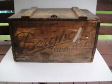 Vintage Berghoff Brewery Beer Crate Fort Wayne Indiana 30's Org. Working Latch