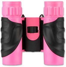Barska 10x25 Pink Waterproof Compact Binoculars Blue Lens AB12418