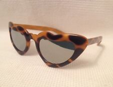 Fabulous True Vintage 80s Retro Carved Frame Orange Heart Polka Dot Sunglasses