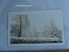 1914 Postcard Real Photo Type Snow Bound Winter Scene in Burlington VT House