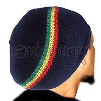 Rasta Cap Dread Tam Hats Beret Bonet Caps Africa Crown Reggae Marley Jamaica  M L 5b96d719266